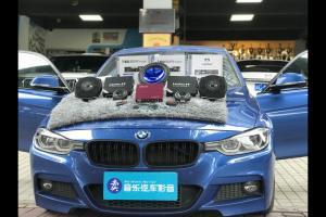 宝马320汽车音响改装德国艾索特W2+M1―广州卖音乐汽车音响改装店