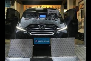 广州本田艾力绅汽车音响改装英国创世纪GT65.2广州卖音乐汽车音响改装